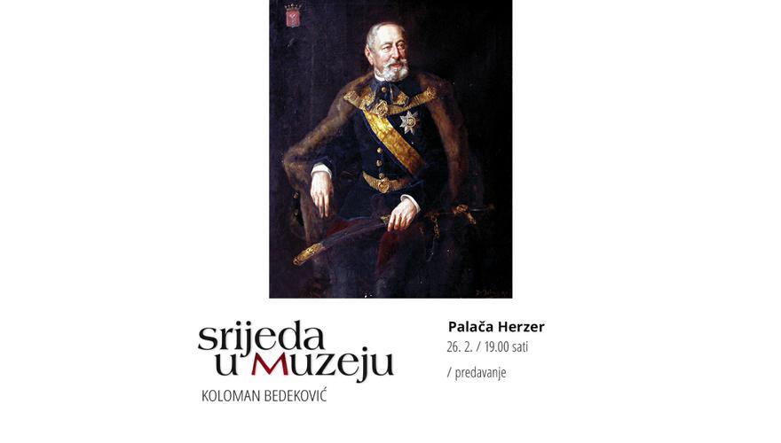 KOLOMAN BEDEKOVIĆ  Predavanje u povodu 150. obljetnice imenovanja  prvim hrvatskim ministrom u Budimpešti