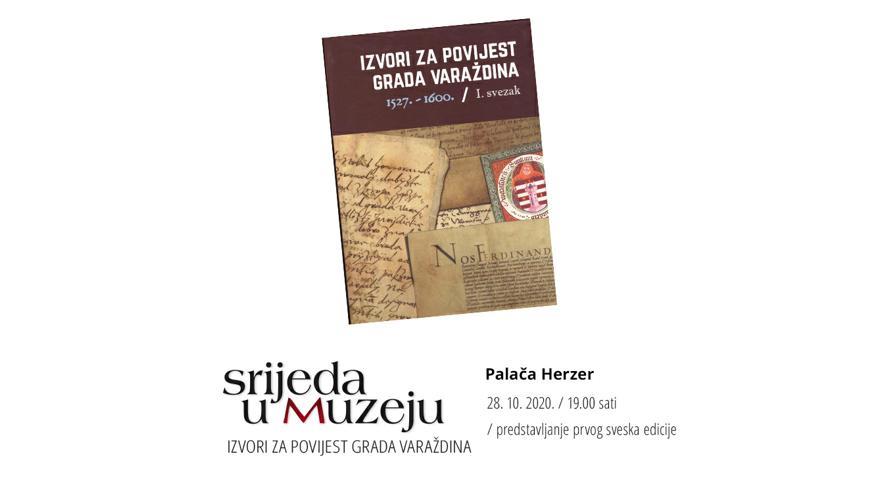 OTKAZANO / Izvori za povijest grada Varaždina