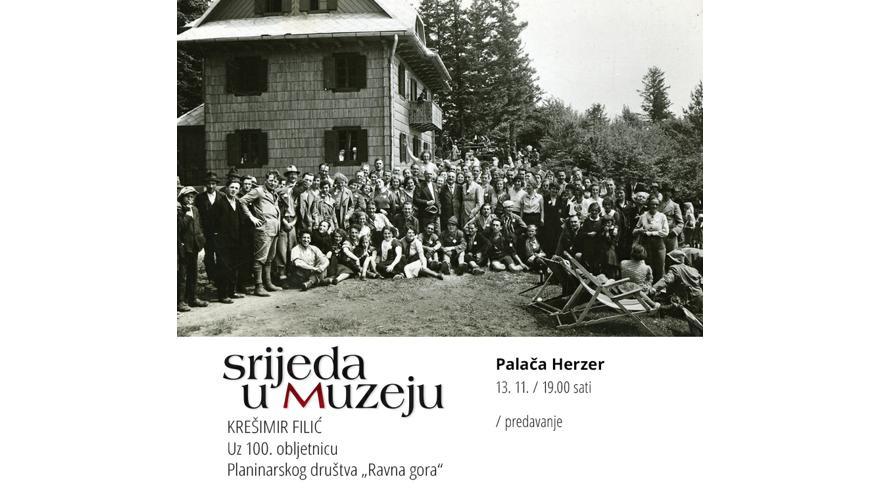 """KREŠIMIR FILIĆ  Uz 100. obljetnicu Planinarskog društva """"Ravna gora"""""""