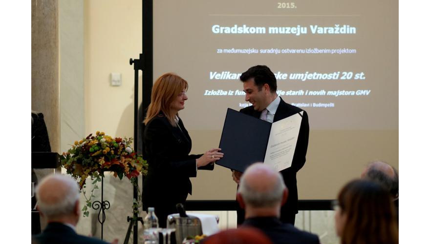 GMV dobitnik je posebnog Priznanja za međumuzejsku suradnju u 2015. g.